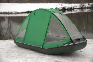 Фото тента-палатки на лодку Ривьера 3200 СК