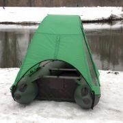 Фото тента-палатки на лодку Аква 2600